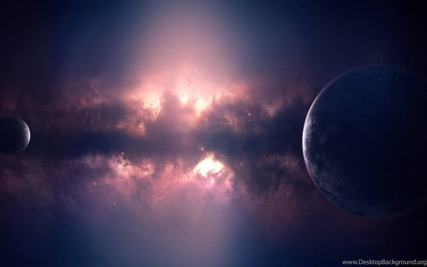 planet space galaxy planets purple universe cosmos wallpapers