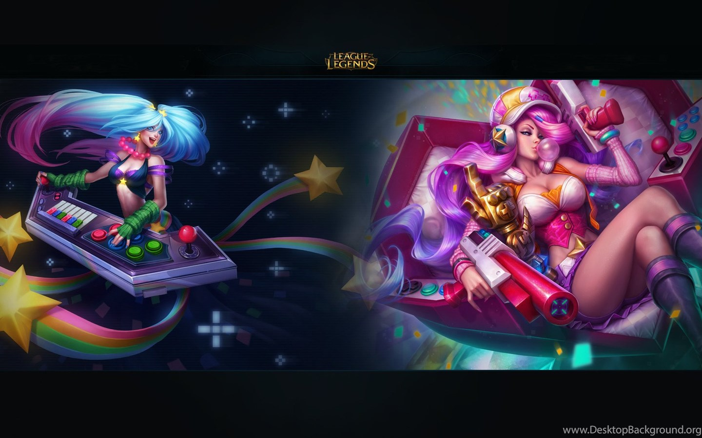 Arcade Sona And Miss Fortune Hd Wallpapers Desktop Background