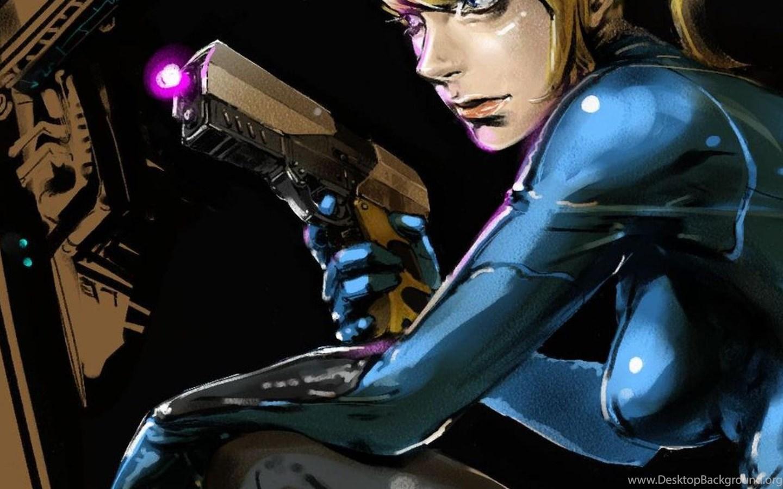 Metroid Samus Aran Zero Suit Wallpapers Desktop Background