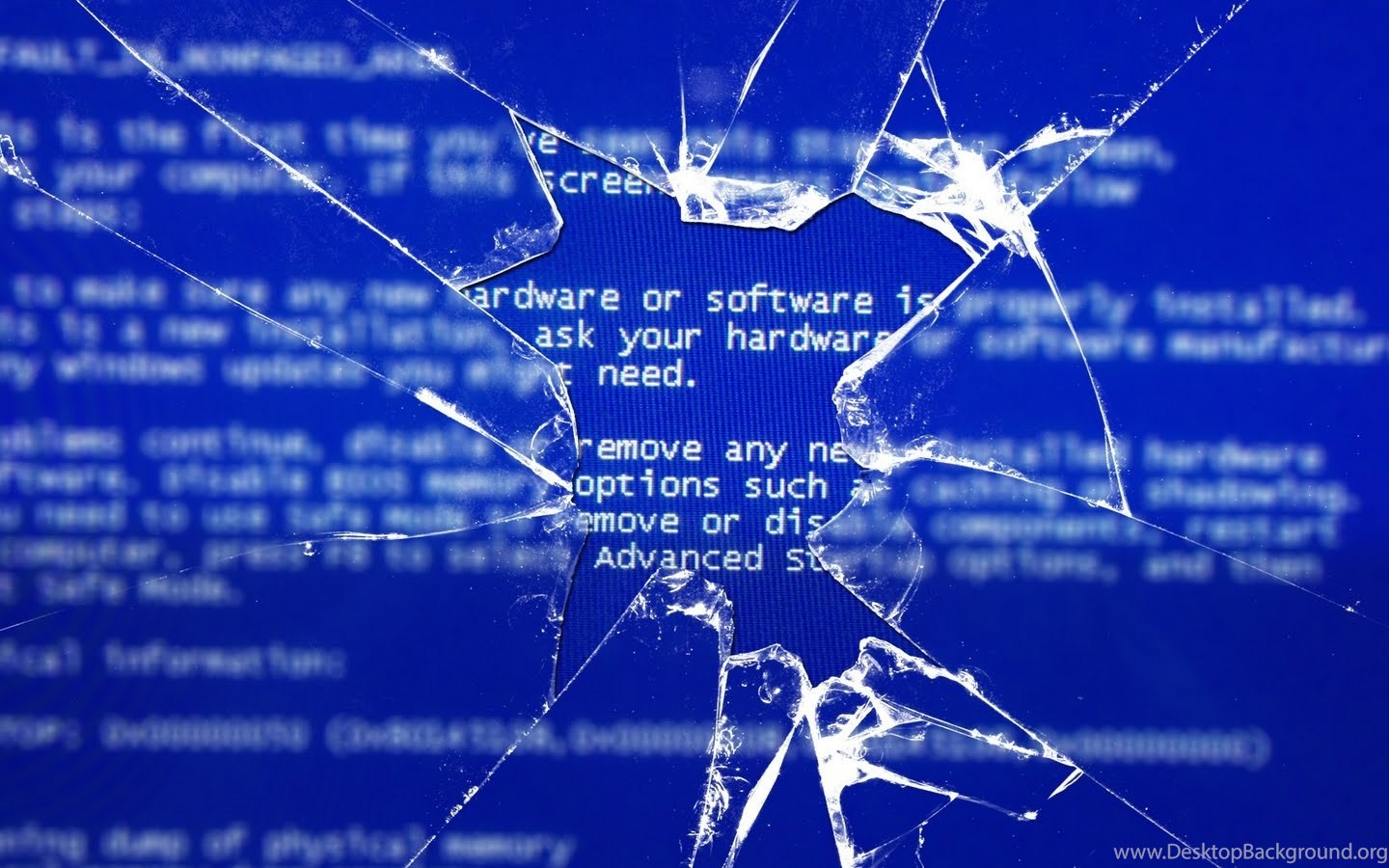 Wallpapers Funny Epic Windows Bsod Broken Glass Hd Os