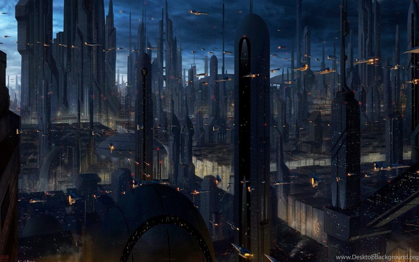 Coruscant Star Wars Artwork Buildings Cityscapes Wallpapers Desktop Background