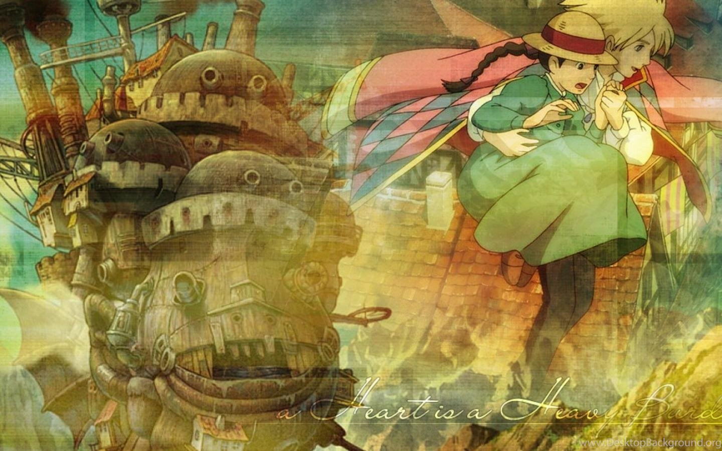 Howls Moving Castle Anime Hd Wallpapers Desktop Background