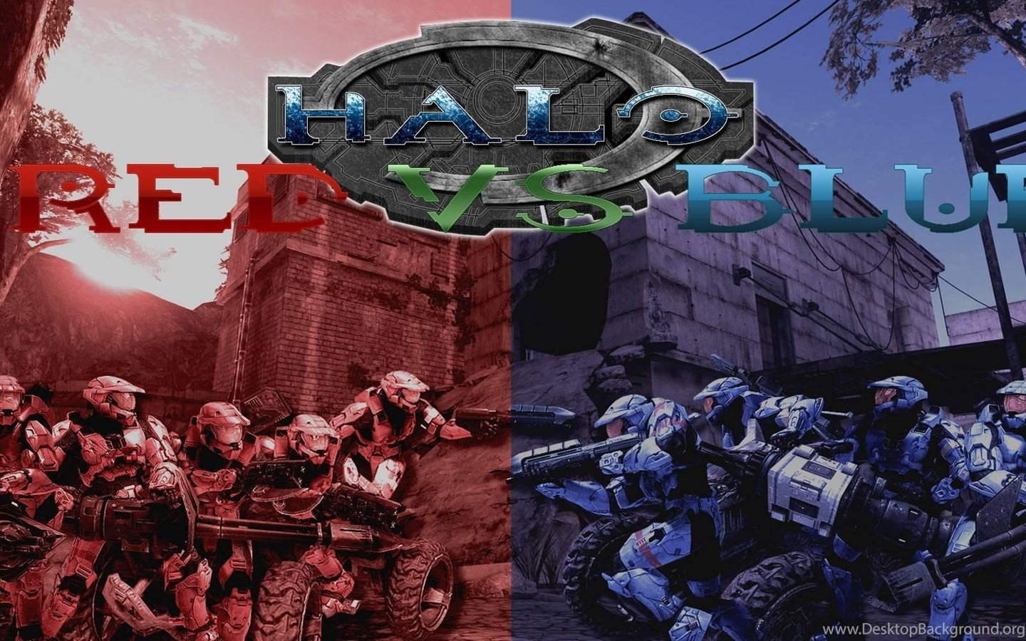 Halo Red Vs Blue Wallpapers Game Wallpapers Hd Desktop Background