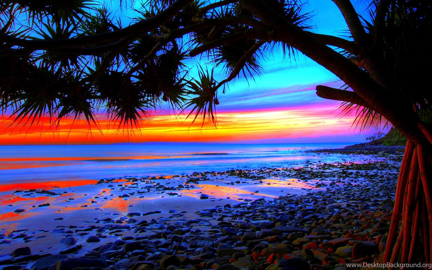 Tropical Beach Sunset Wallpapers 09, HD Desktop Wallpapers