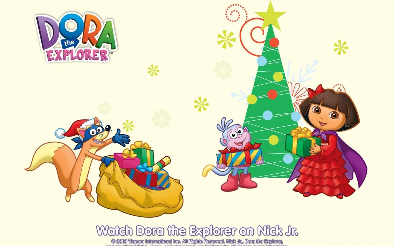 Dora The Explorer Christmas Wallpapers : Christmas Cartoons Desktop ...