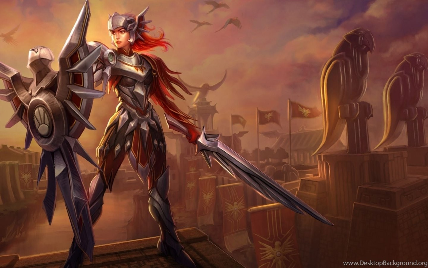 League Of Legends Leona Wallpapers Mobile Games Wallpapers