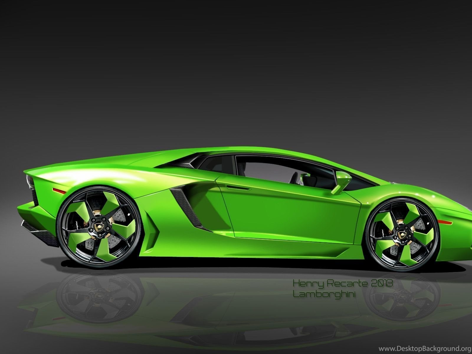 Car Wallpaper High Resolution: Green Lamborghini Wallpapers High Quality • Cars