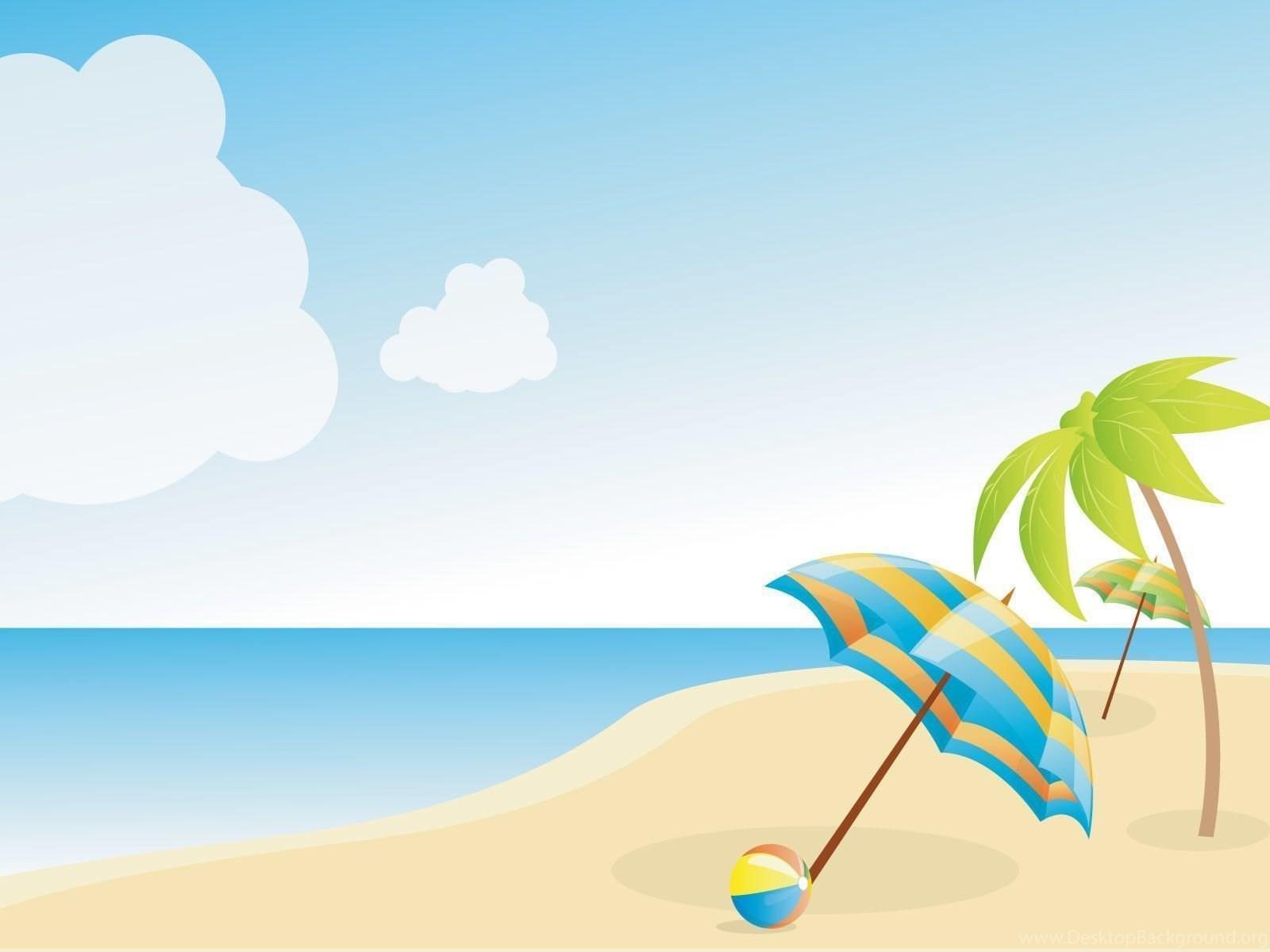 Картинки лето пляж нарисованные, для открыток развертка
