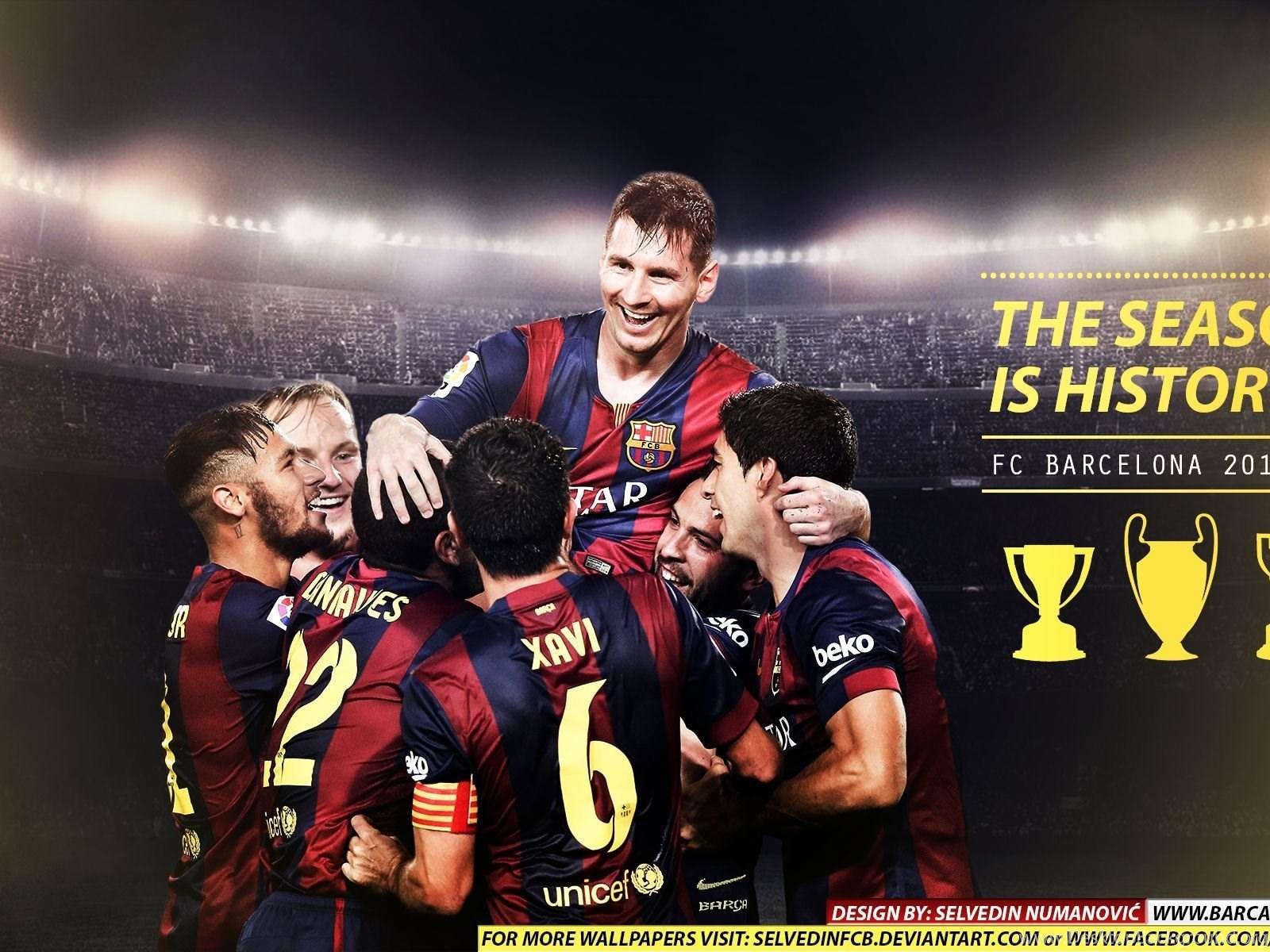 Deviantart More Like Fc Barcelona Champions 2015 Hd Wallpaper By