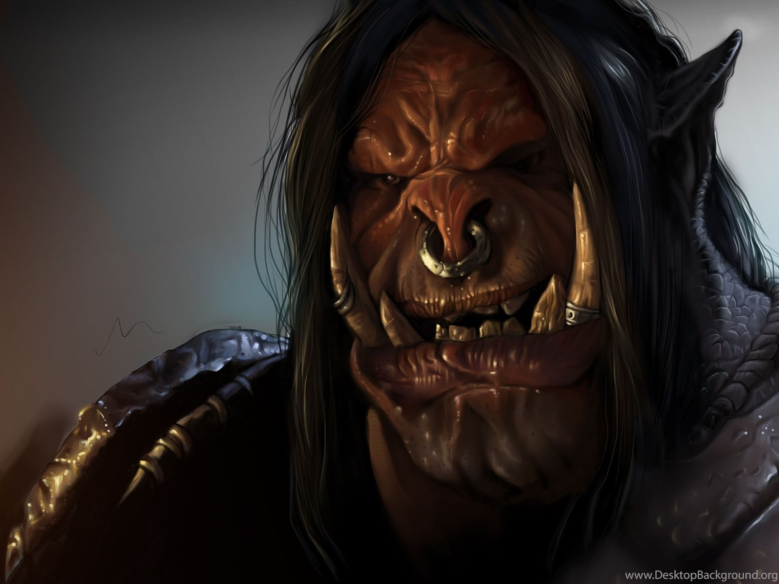 Download Wallpapers Orc World Of Warcraft Dlc Warlords Of
