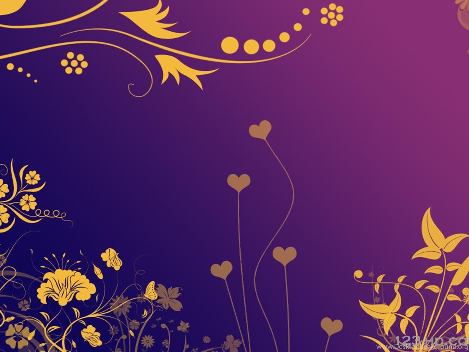 Purple Gold Wallpapers Hd Wallpapers Lovely Desktop Background