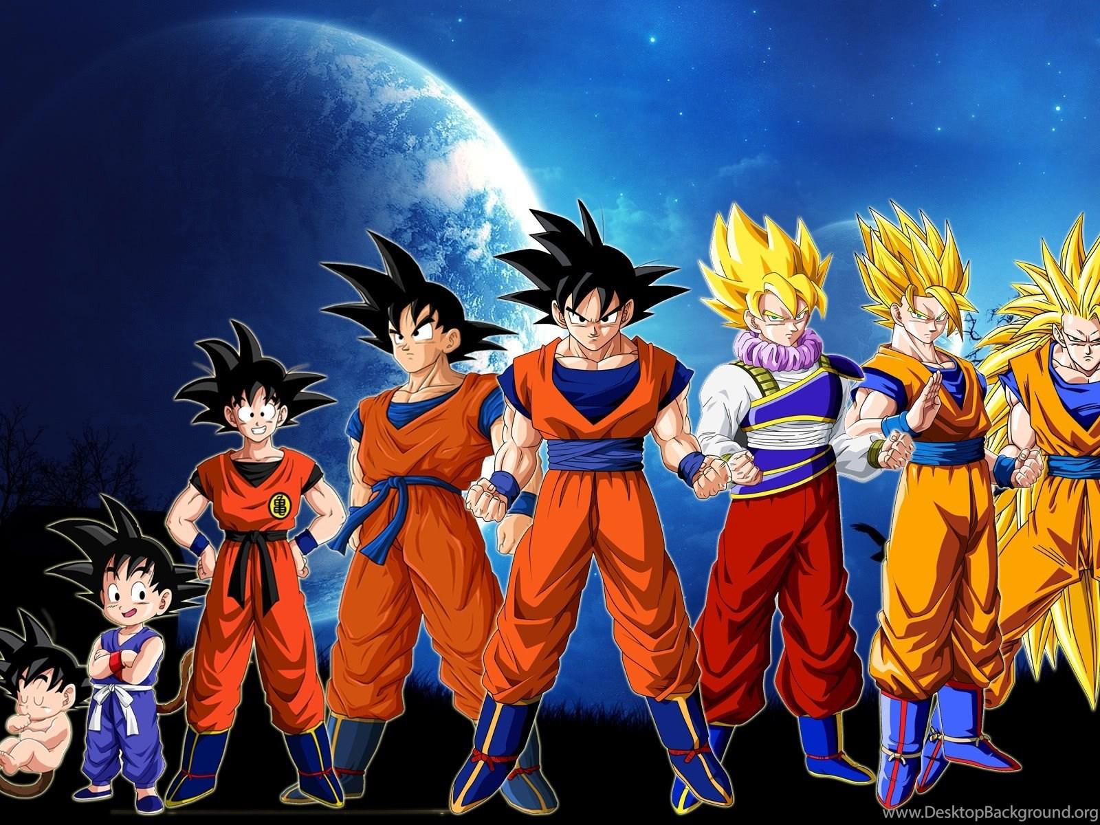 Moon Son Goku Evolution Dragon Ball Z Super Saiyan Wallpapers