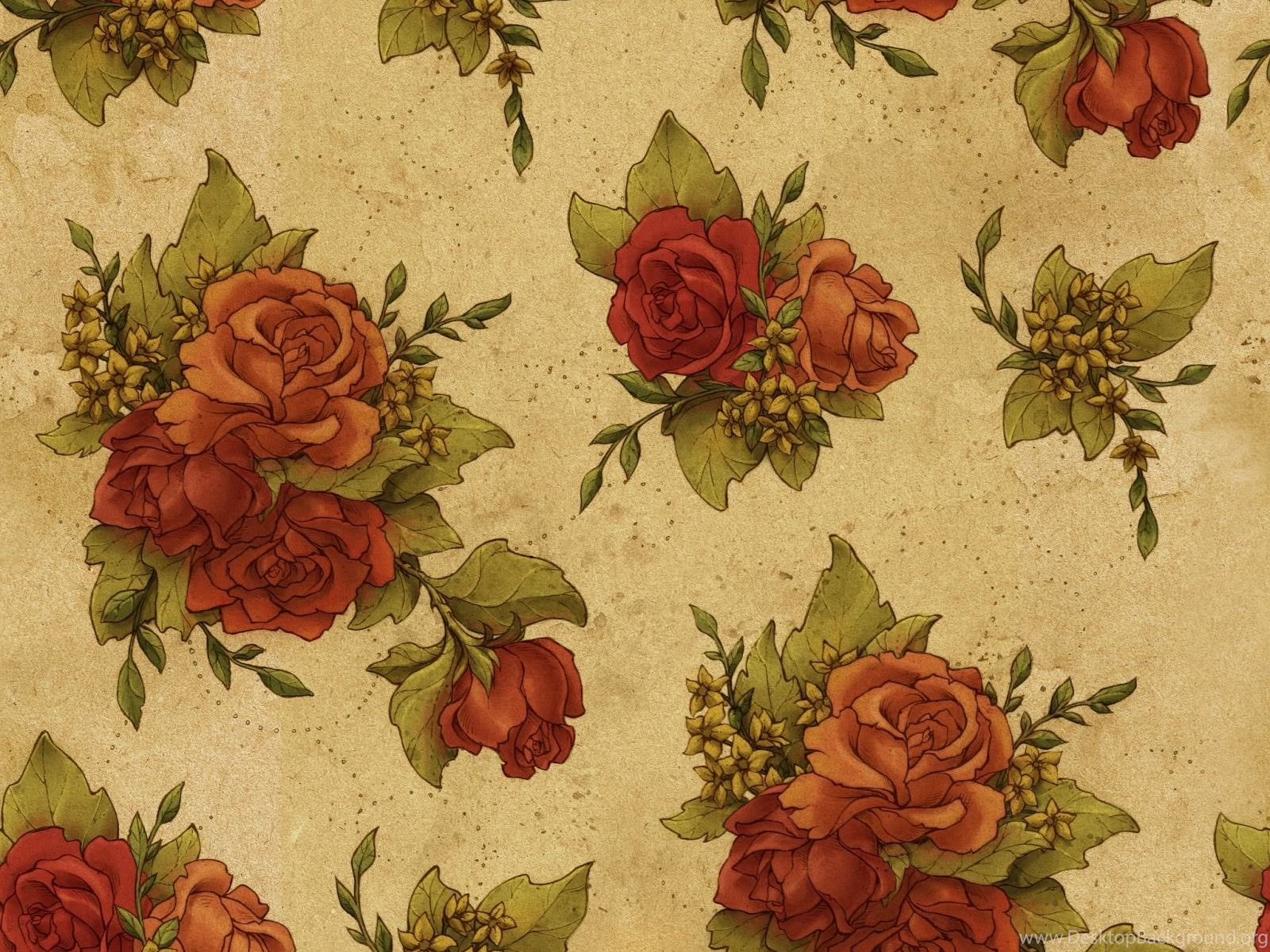Download 15 Free Floral Vintage Wallpapers Desktop Background