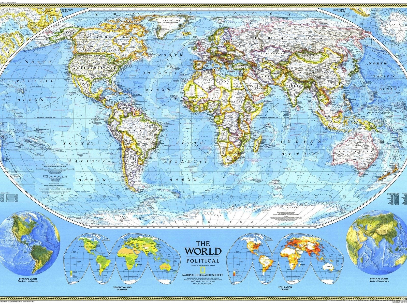 National geographic world map 1920x1200 hd wallpapers and free fullscreen gumiabroncs Choice Image