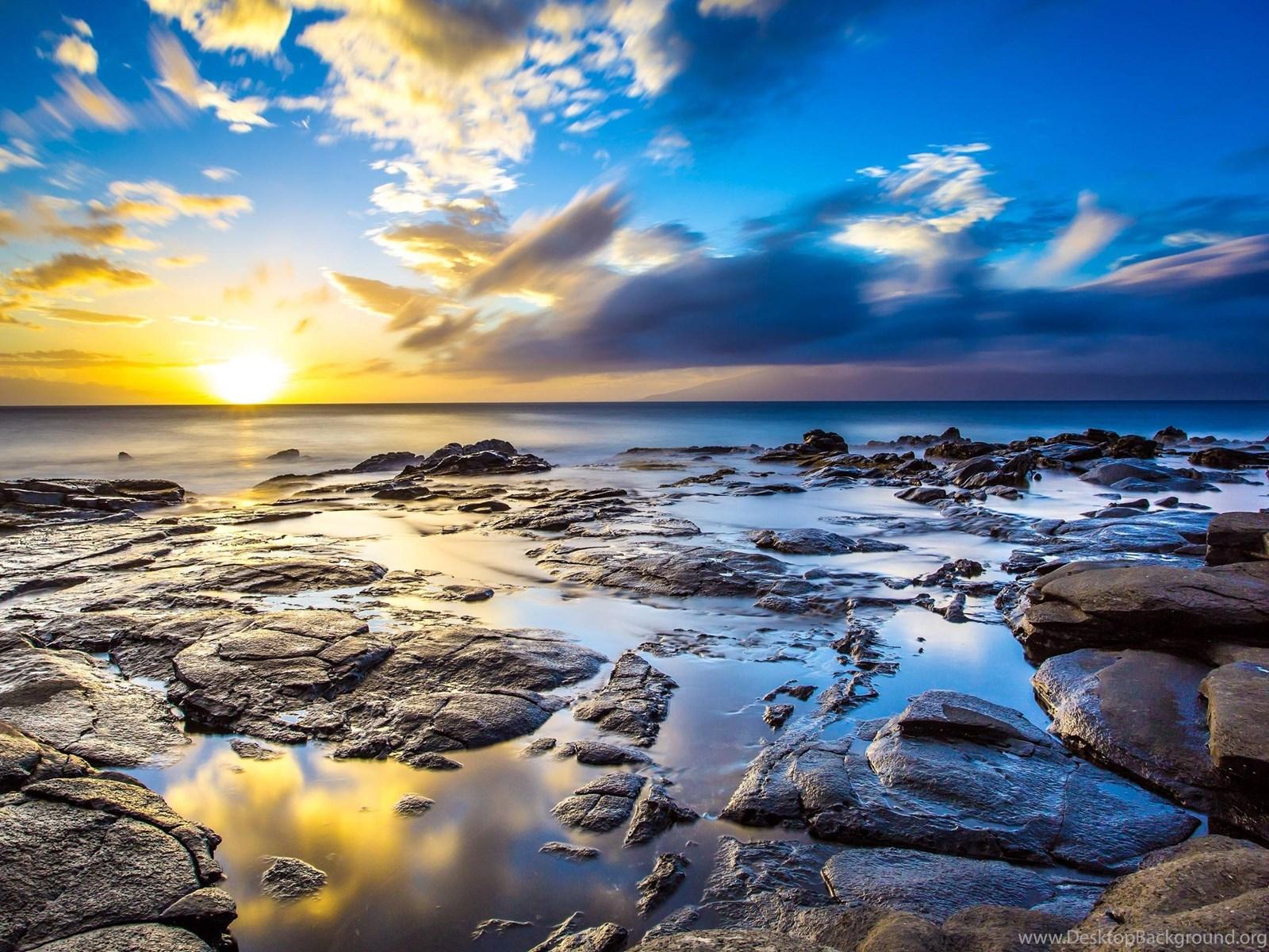 Beach With Sun Setting 4k Wallpapers Full 1080p Ultra Hd