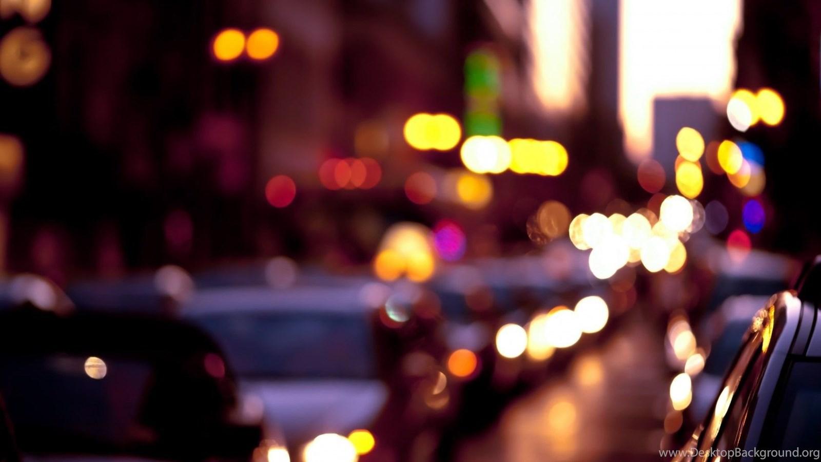 Bokeh city lights photo fanciful evening hd wallpapers desktop background - Light night wallpaper ...