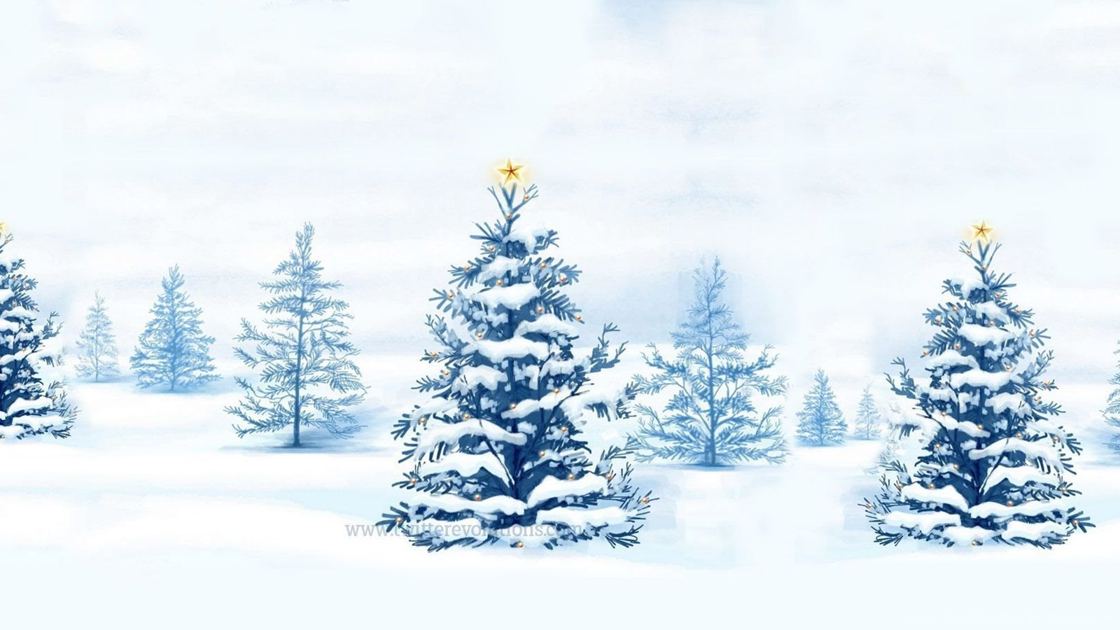 winter snowy christmas trees twitter backgrounds. Black Bedroom Furniture Sets. Home Design Ideas