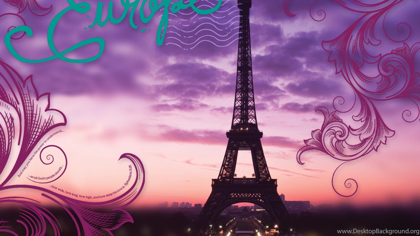 Pink Eiffel Tower Wallpapers Desktop Backgrounds Desktop