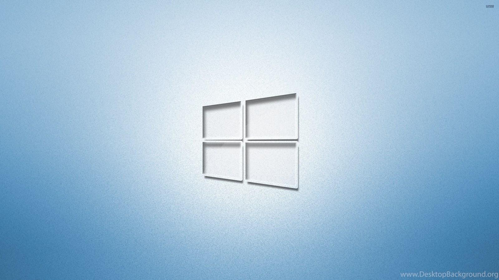 Glass Windows 10 On Light Blue Wallpapers Computer