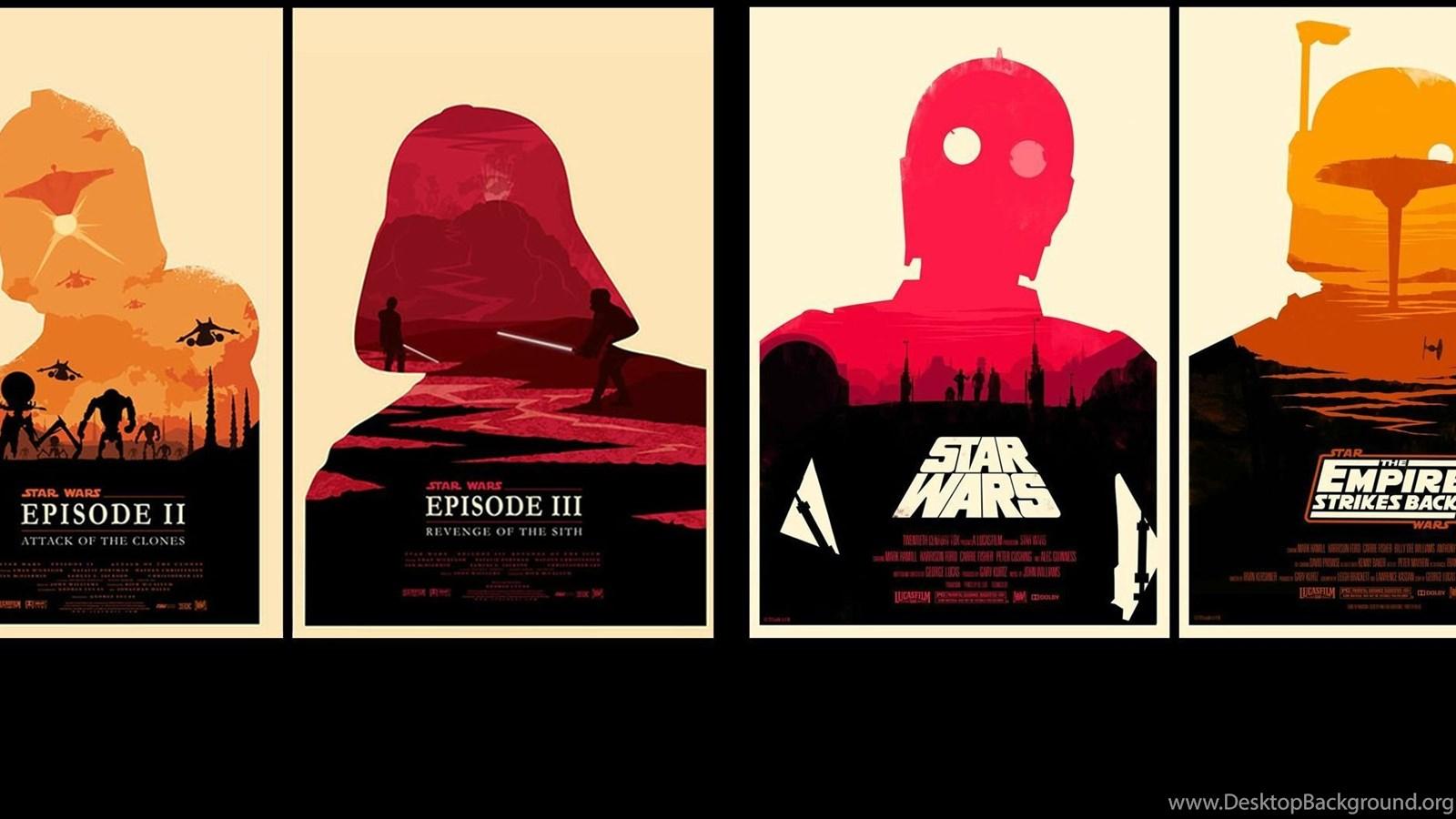 Star Wars Originals Prequels Combined For Dual Screen Wallpapers Desktop Background
