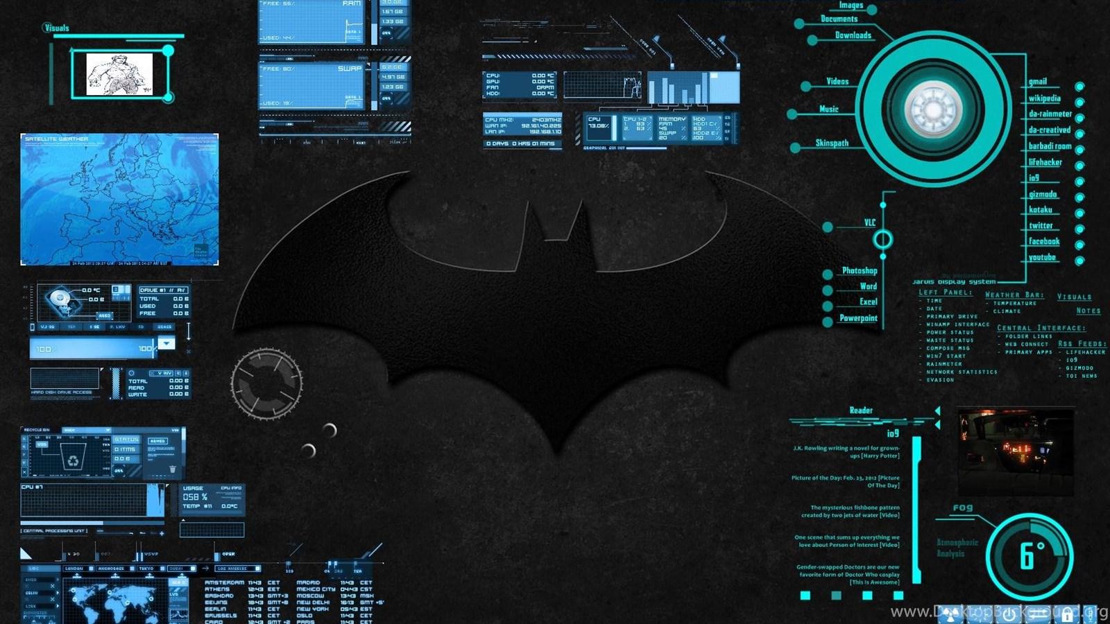 BAT COMPUTER INTERFACE Desktop BackgroundSimilar wallpapers