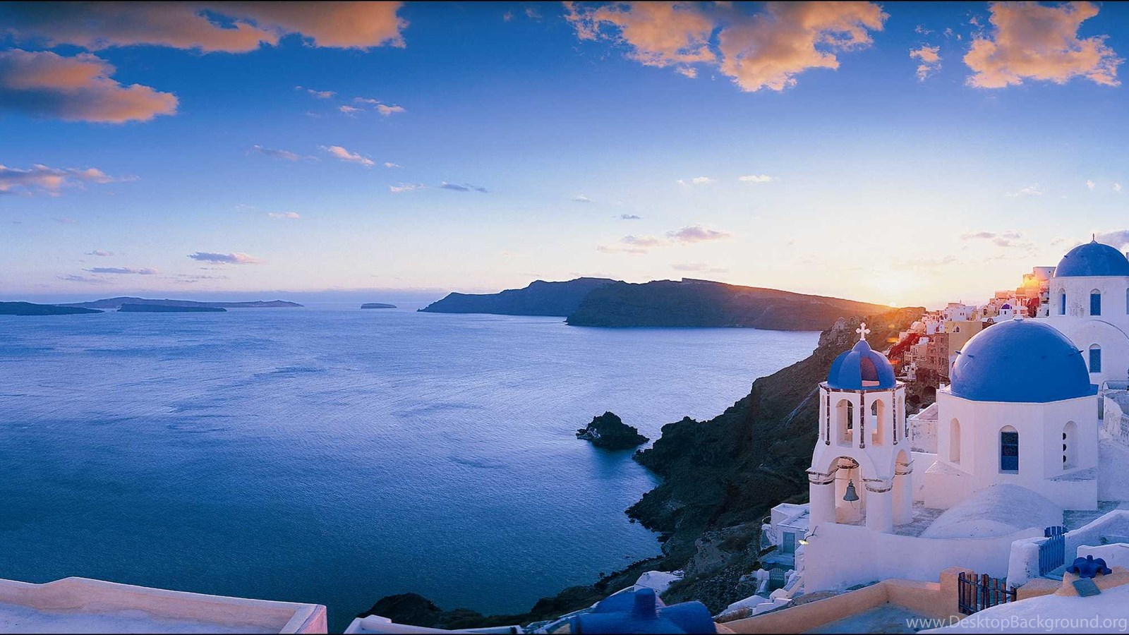 Greek Island Desktop Wallpaper