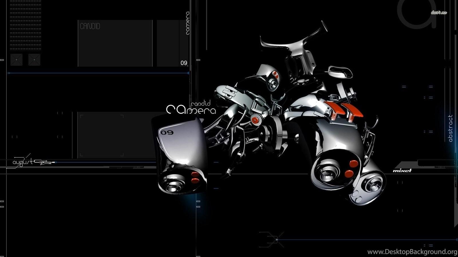 Distorted Camera Wallpapers Digital Art Desktop Background