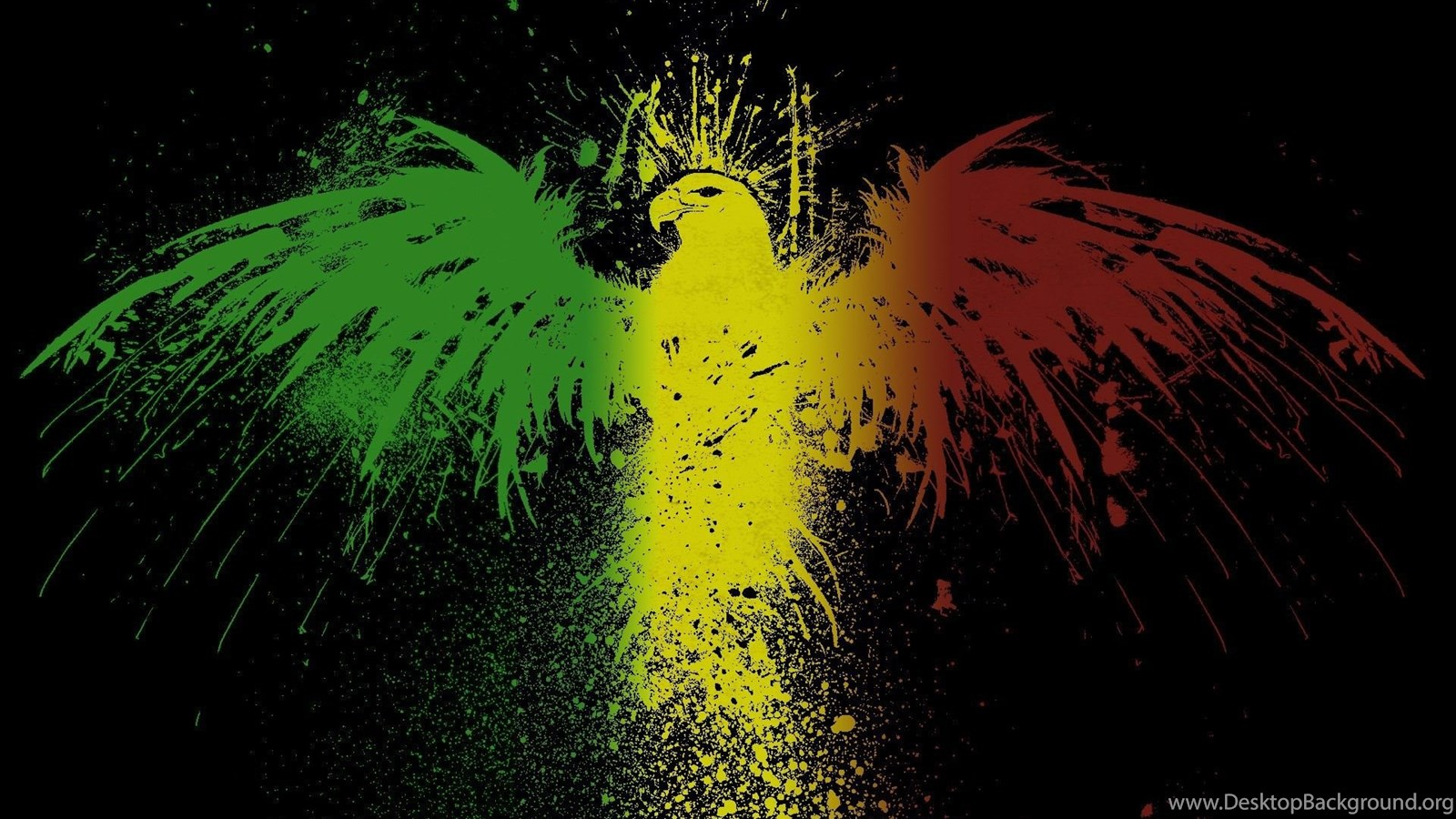 Rasta Eagle Jamaica Rastafarian Eagles Flags Black Backgrounds Mali
