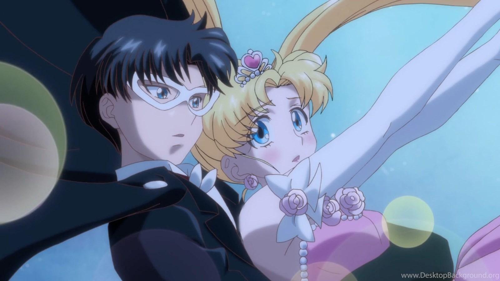Sailor Moon Crystal Act 4 Tuxedo Mask And Usagi Desktop Background