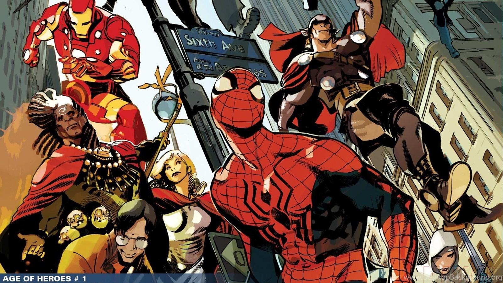 Iron man thor spider man marvel comics wallpapers desktop - Spiderman and ironman wallpaper ...