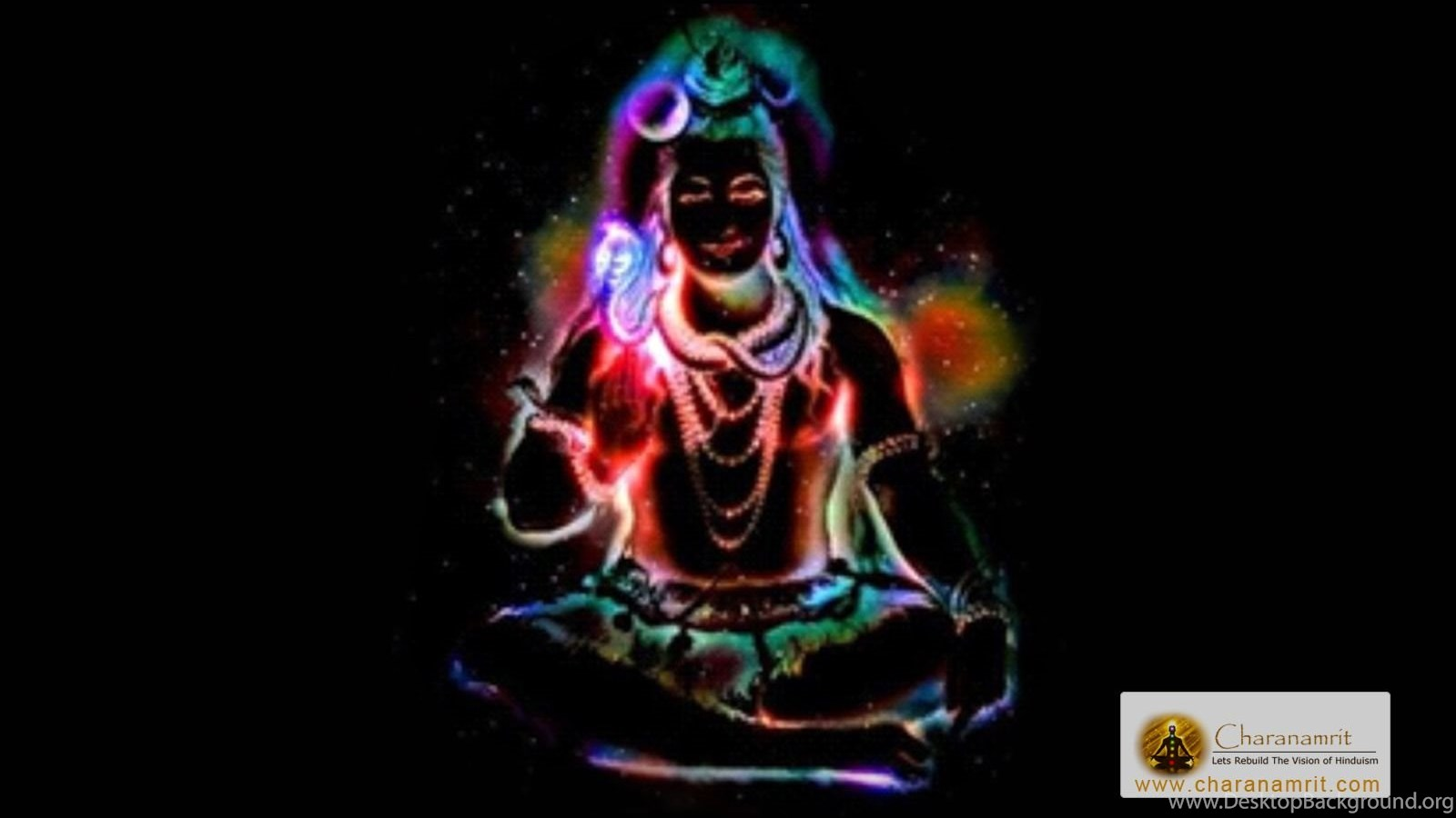 Lord Shiva Colorful Lighting Effects Hd Wallpapers For Free Desktop Background