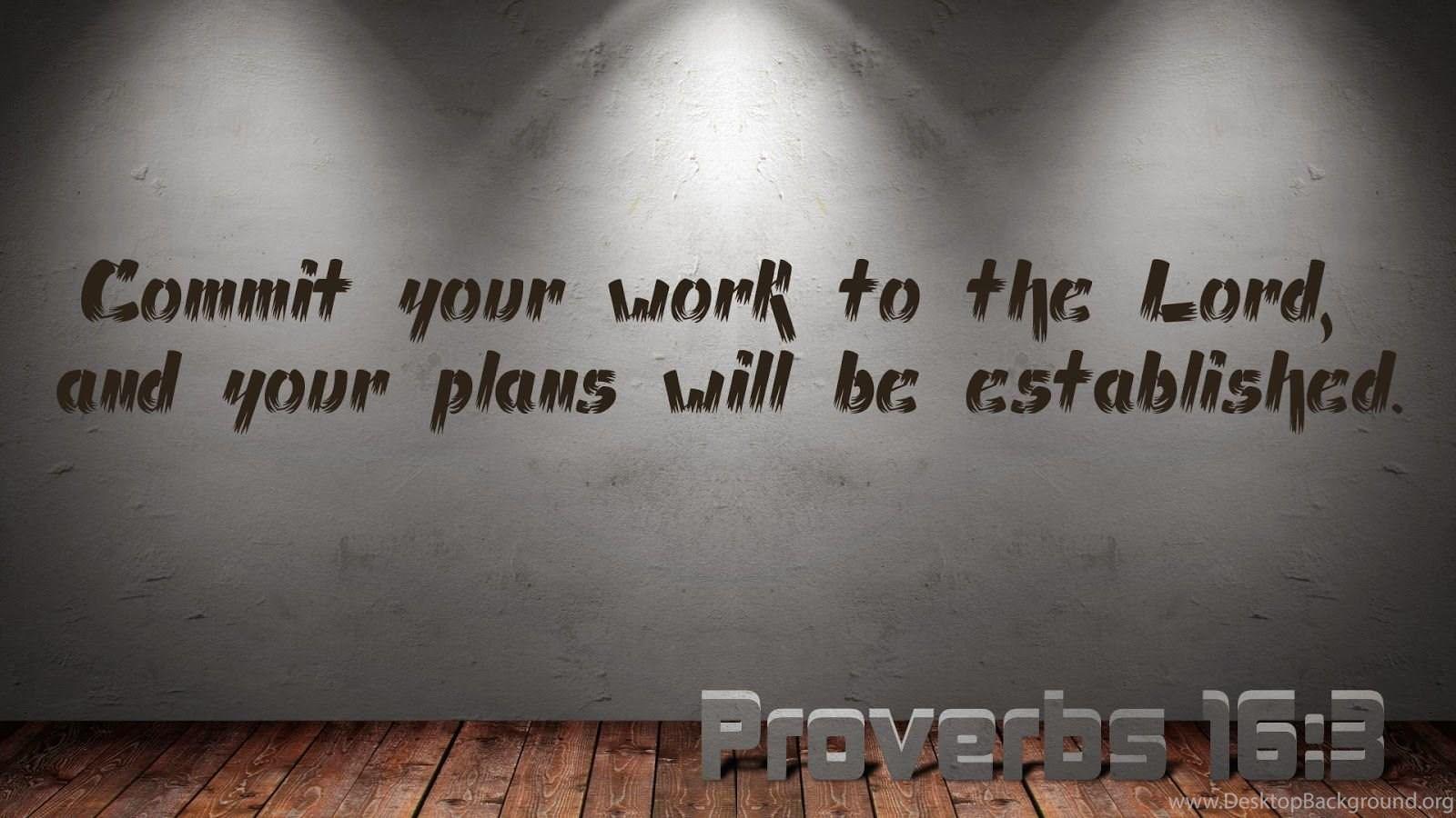 Scripture Wallpaper Proverbs 16 3 Bible Verse Wallpapers Desktop Background