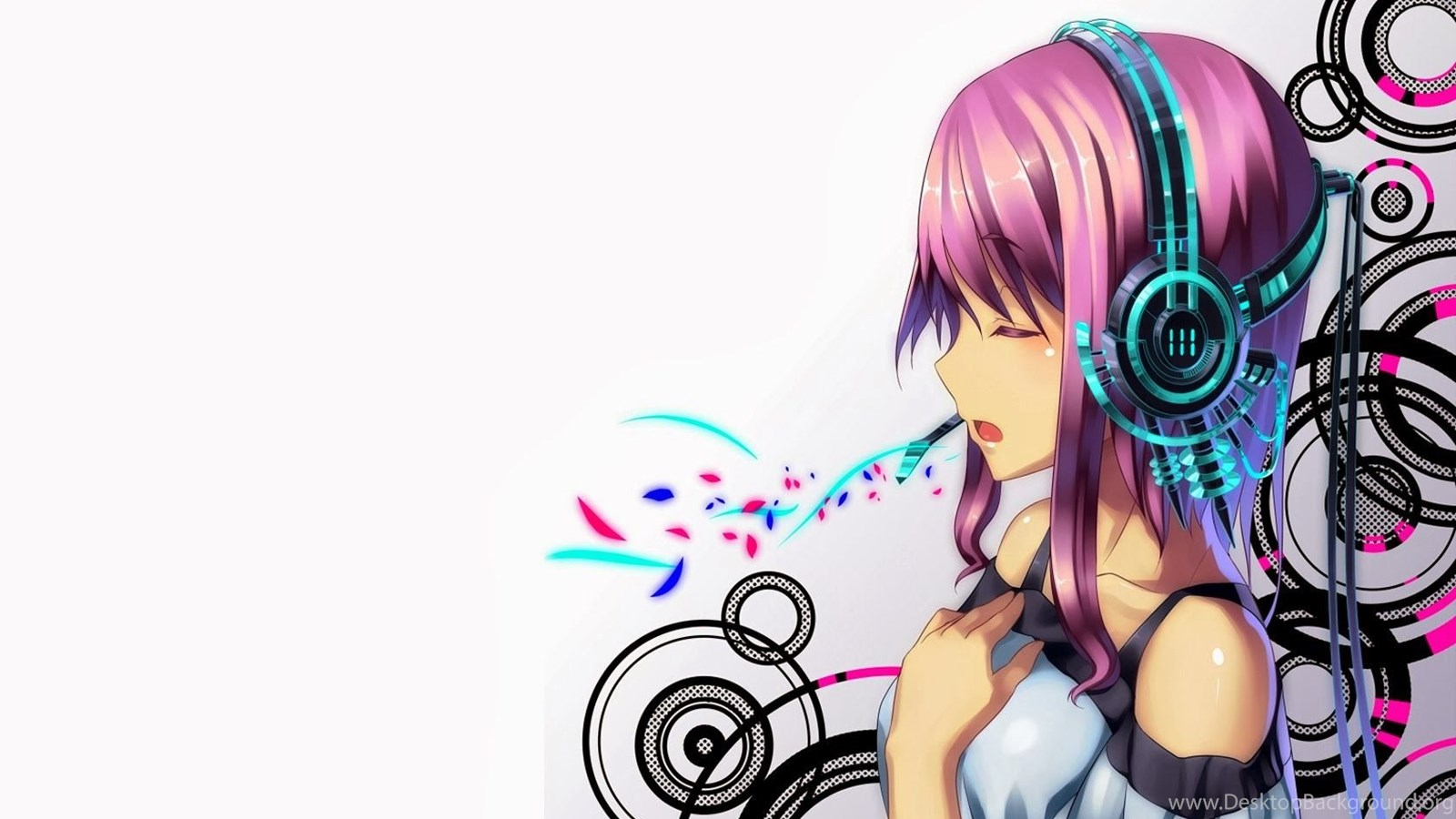 Anime girl abstract headphone hd wallpapers 1680x1050 - Imagens em hd de animes ...