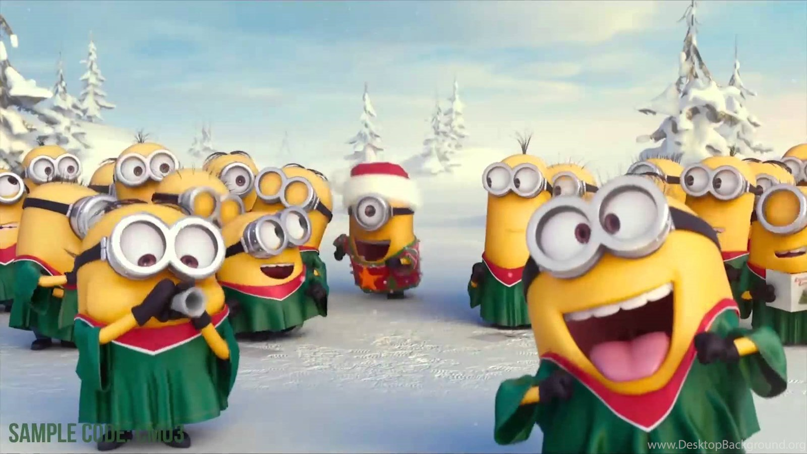 Funny Minion Merry Christmas Wallpapers Sayings: Minions Wishing Merry Christmas With Your Logo ! Make Your