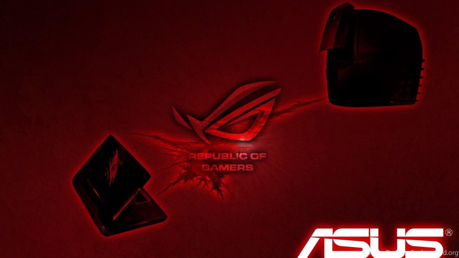 Asus Red ROG Logo HD Wallpapers Desktop Background