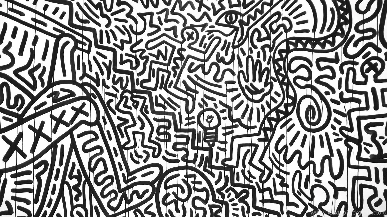 Justpict Keith Haring Black And White Wallpapers Desktop Background