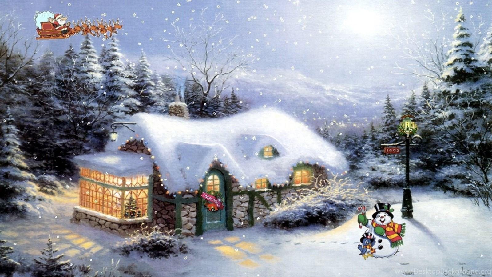 Invitation Card Templates And Wordingpage 2334: Christmas Cottage ...  Desktop Background
