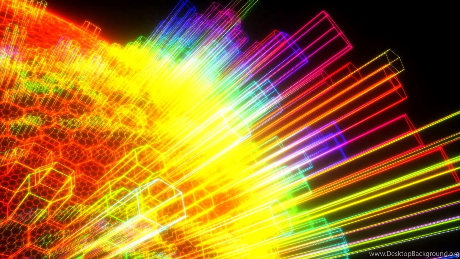 All new wallpapers geometry rainbow colours wallpapers desktop background - 1000 color wallpapers ...