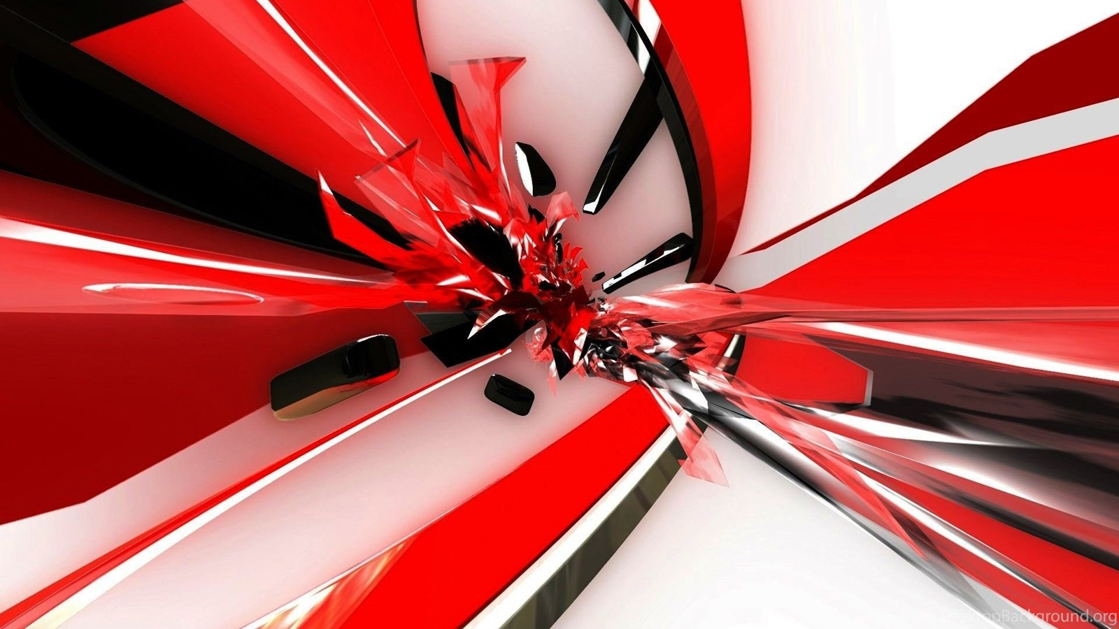 Red 3d Black White Backgrounds HD Wallpapers Desktop ...
