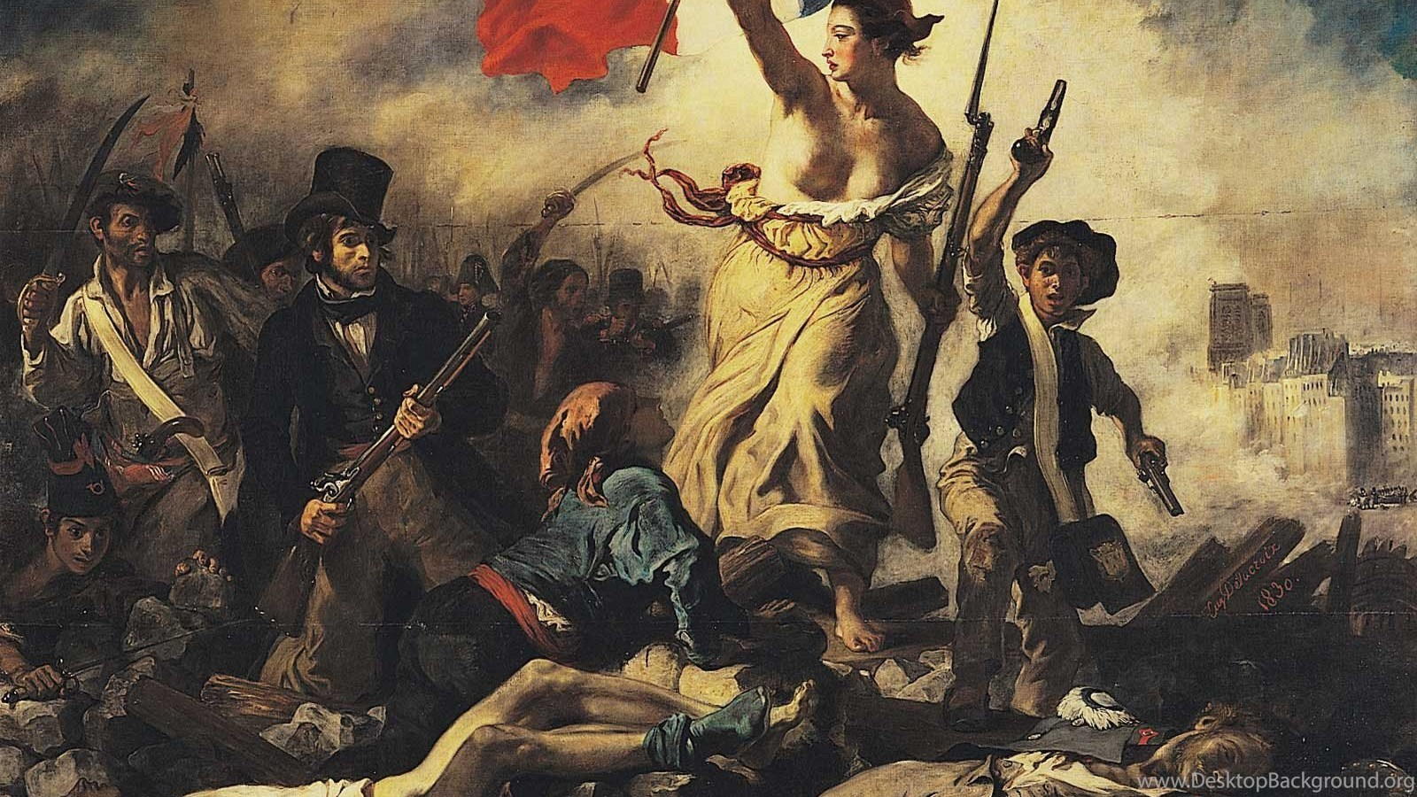 Wallpapers Eugene Delacroix Liberty Leading The People 1600 X