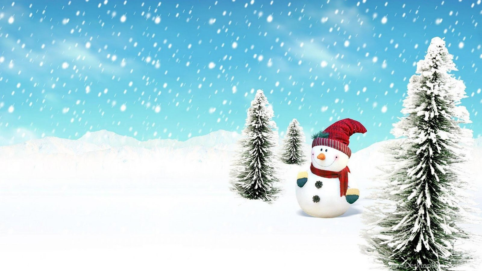 Christmas Snowman Wallpapers Picture Desktop Background