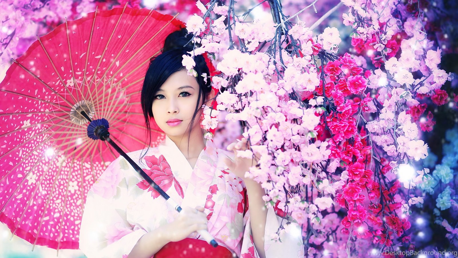 the japanese girl with an umbrella wallpapers desktop background