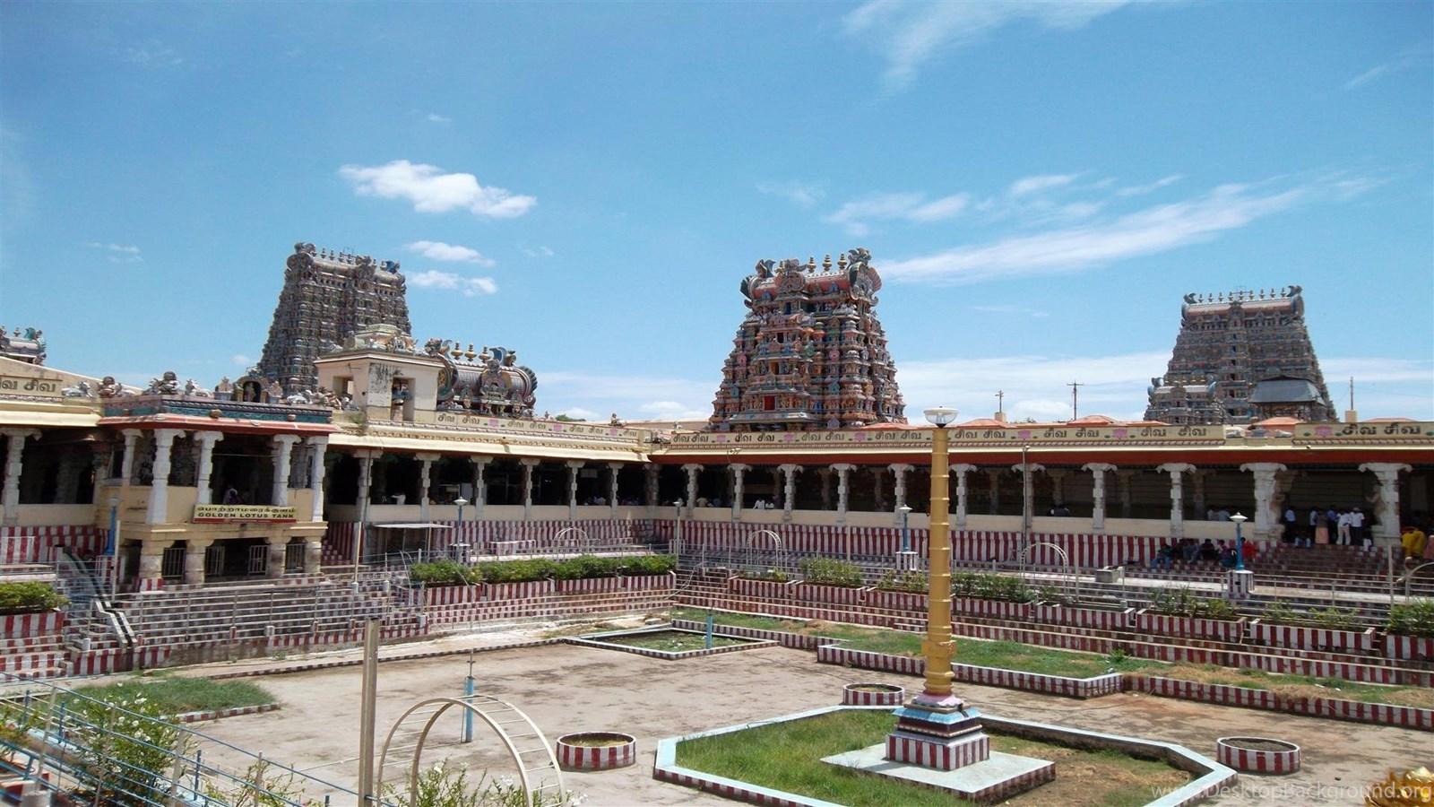 Download x HD Wallpapers Meenakshi Amman Temple Yard Hindu