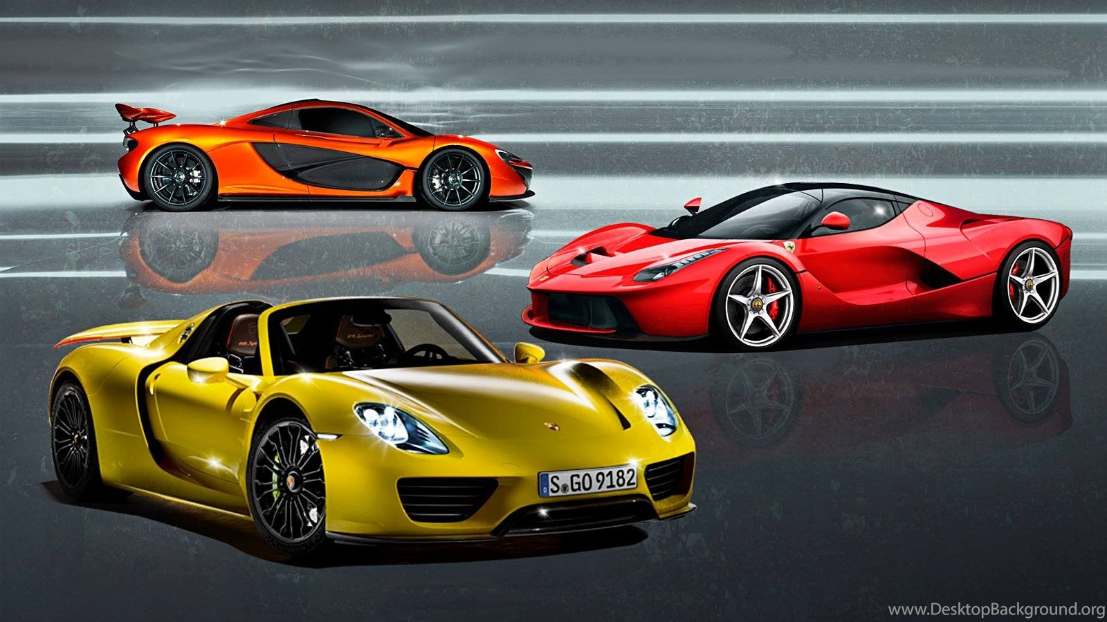 Ferrari Laferrari Vs Mclaren P1 Vs Porsche 918 Spyder Image Desktop Background