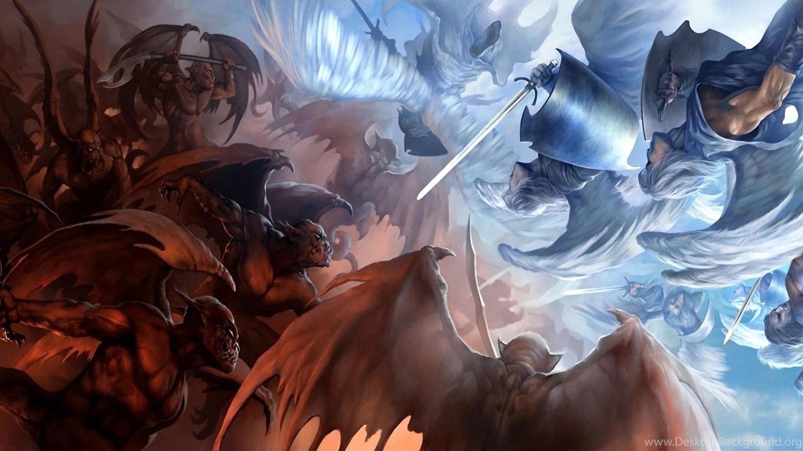 Wallpapers Demons Angels Vs Anime Devil Fight God Full Hd ...