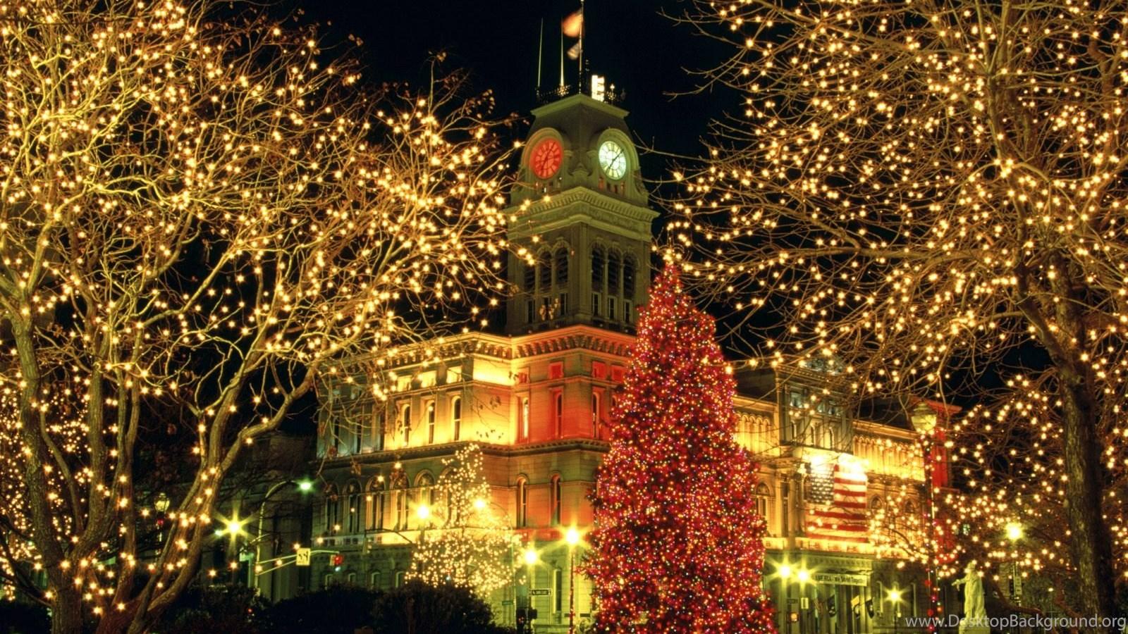 Merry Christmas City Wallpapers Photos Desktop Background
