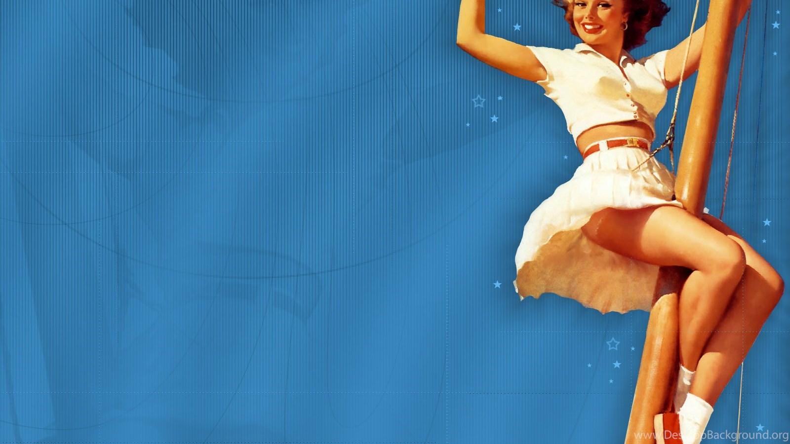1950's Pinup Girl Wallpapers Girls Pinups Postcard ...