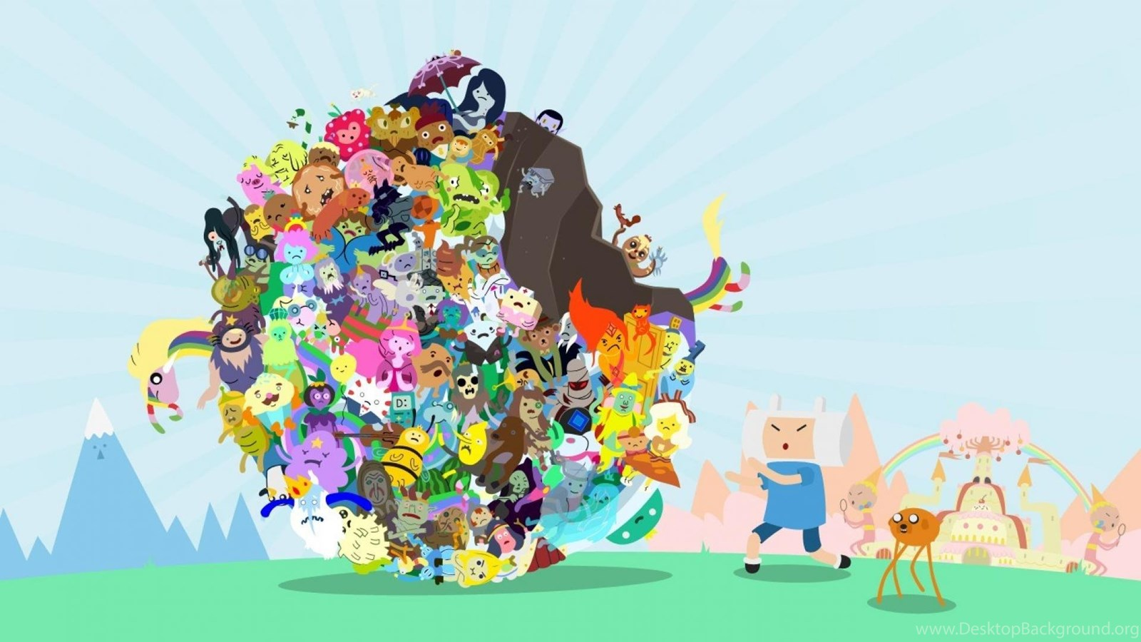 Parody adventure time katamari damacy wallpapers desktop background popular voltagebd Image collections