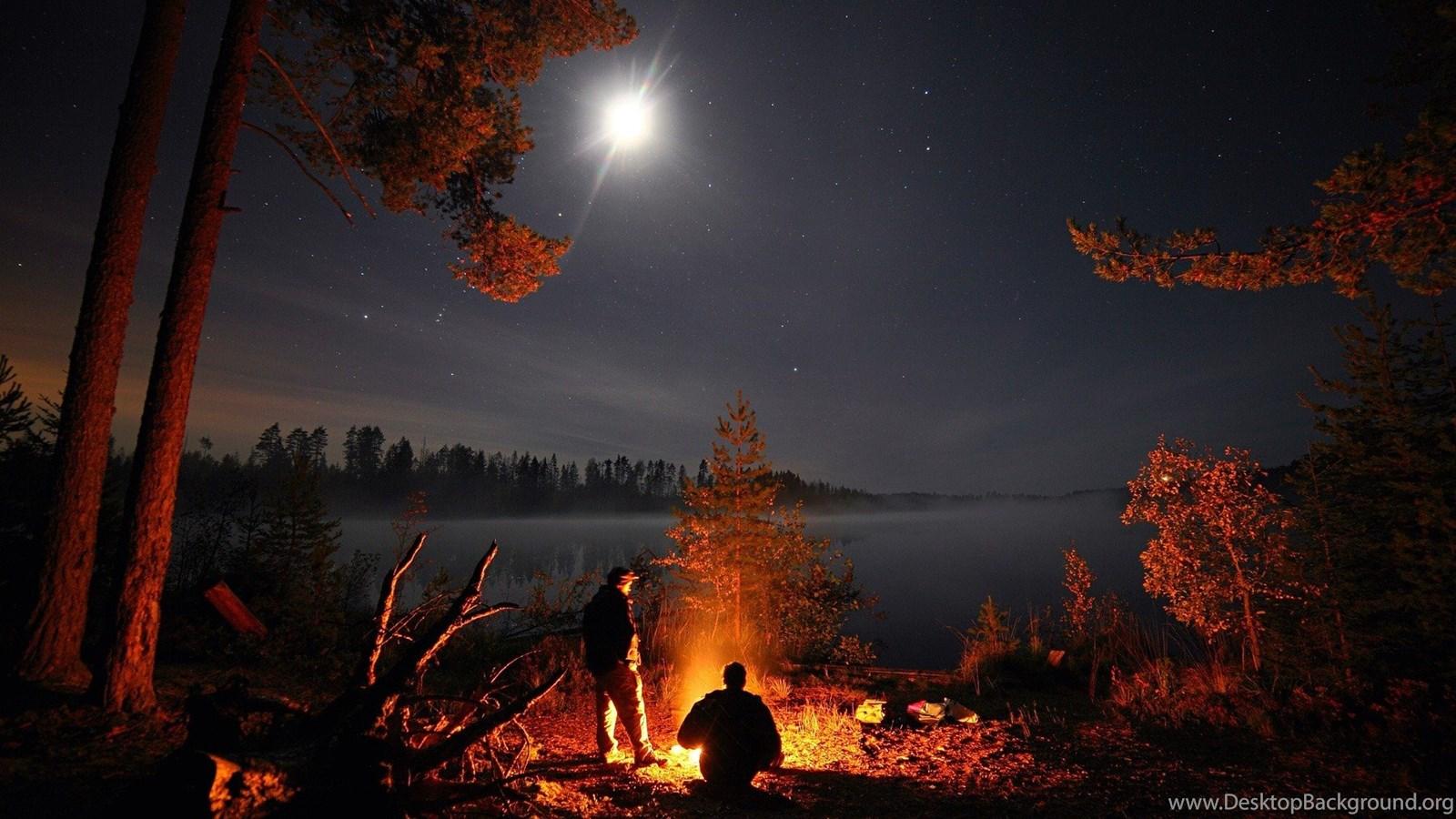 Landscape Lake Pine Trees Camping Wallpapers Hd Desktop And Desktop Background