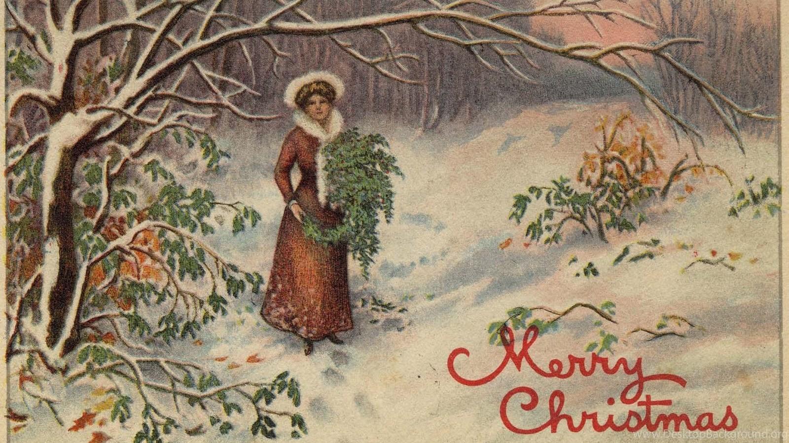 popular - Vintage Christmas Wallpaper